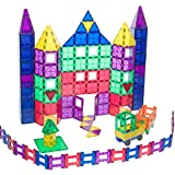 Award Winning Playmags Clear Colors Magnetic Tiles Deluxe Building Set 150 Piece Set