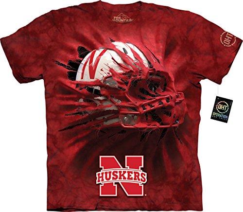 - The Mountain Men's University of Nebraska Huskers Breakthrough Helmet T-Shirt, Red, XL