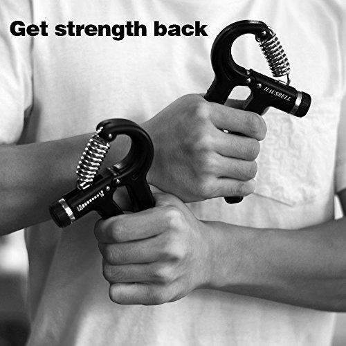 HAUSBELL Hand Grip,30 145 Lbs Hand Grip Fitness Adjustable Hand Strengthener Resistance Strength Trainer Non slip Gripper