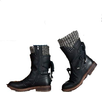 Women Mid-Calf Boots Winter Warm Snow