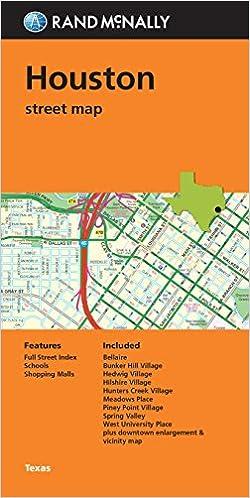 Folded Map: Houston Street Map: Rand McNally: 9780528008931 ...