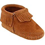 Minnetonka Infant-Girls' Riley Moccasin Booties Brown 4 M US