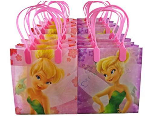12pc Disney Tinkerbell Candy Bags Loot Goody Gift Bags Birthday Party Favors (Tinkerbell Goody Bag)