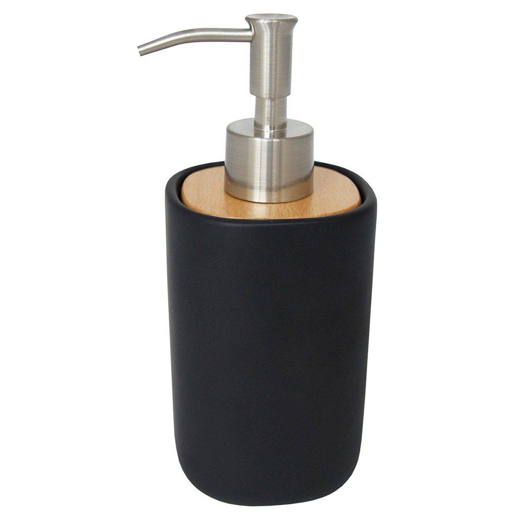 laroom 13459–Dosatore sapone legno, colore: nero