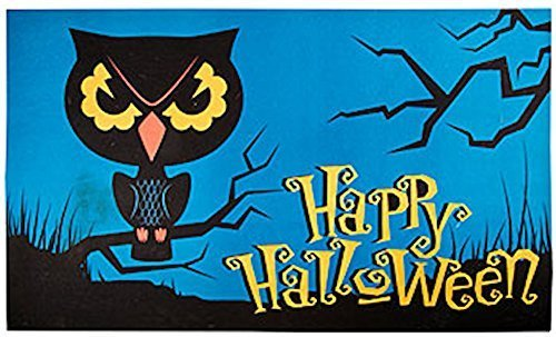 Colorful Owl Halloween Neoprene Doormat, Mat, Rug Inches