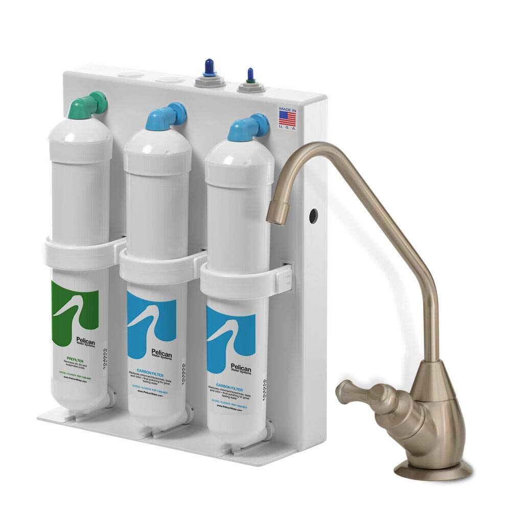 Pelican Water PDF-1500-RCF Dual Stage Carbon Replacement for Undercounter Drinking Water Filter White