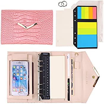 Amazon.com : SynLiZy A6 PU Leather Personal Organizer ...