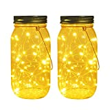 Solar Mason Jar Lights with 30 LEDs Fairy Firefly String Lights