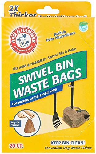 Arm & Hammer Swivel Bin Pet Waste Bags, 20 Count, 12 Pack