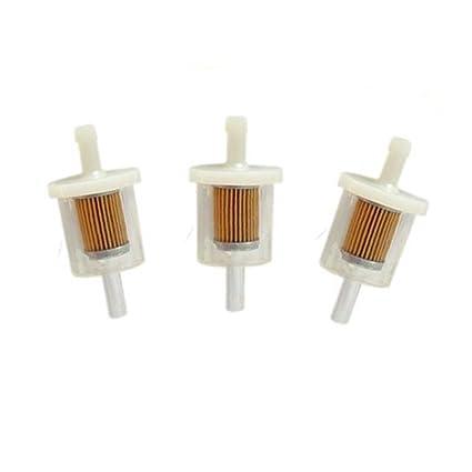 Amazon.com : HURI 3/8 Inch 3/8 In-line Plastic Fuel Filter for ...