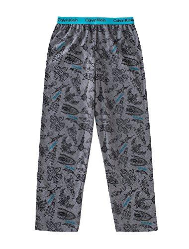 (Calvin Klein Boy`s Brushed Jersey Pants (Space Ship (80258003-99) Lagoon Blue, 7/8))