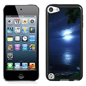 New Personalized Custom Designed For iPod Touch 5th Phone Case For Bright Moon Over The Sea Phone Case Cover