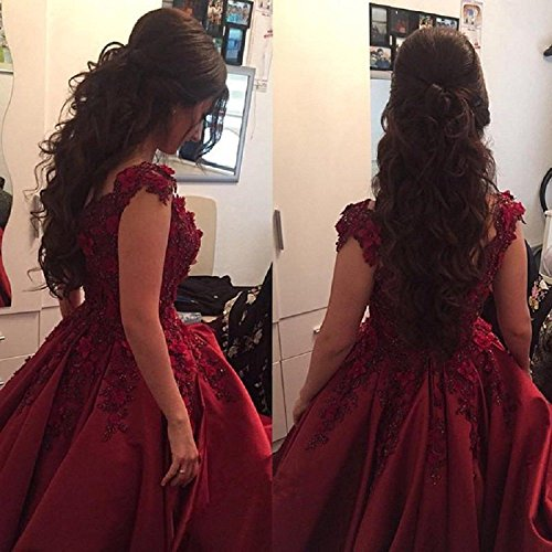 Bessdress Prom Dresses 2018 Off The Shoulder Lace Evening Ball Gown