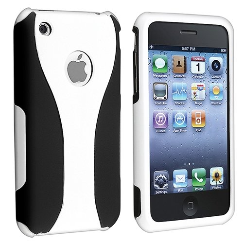 Generic MC0157 Cell Phone Case for iPhone 3 G 3GS - Non-Retail Packaging - White (Phone Iphone 3g Cases)