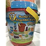 17 pcs Bucket Playset Sand and Water Fun [Colours may vary]