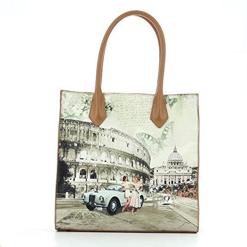 YNOT? J-375 Shopping Bag Donna life in Rome UNICA