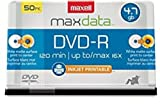 Maxell 638022 Dvd-R4.7Gb Printable White Matte