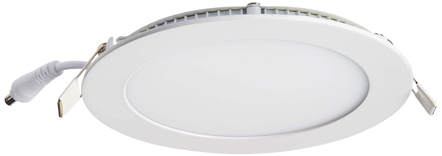 B-right Pack of 5 Units 9W 5-inch Dimmable Round LED Panel Light 720lm Ultra-thin 3000K Warm White LED Recessed Ceiling Lights for Home Office Commercial Lighting