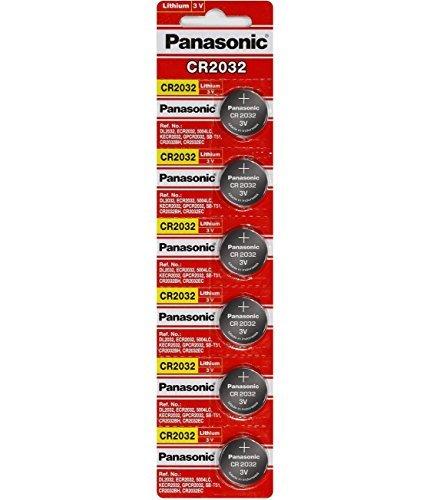 "Panasonic CR2032 Battery Lithium cr-2032 3V Coin Cell pack of 6 batteries""panasonic brand name batteries"" exp. date 2022"