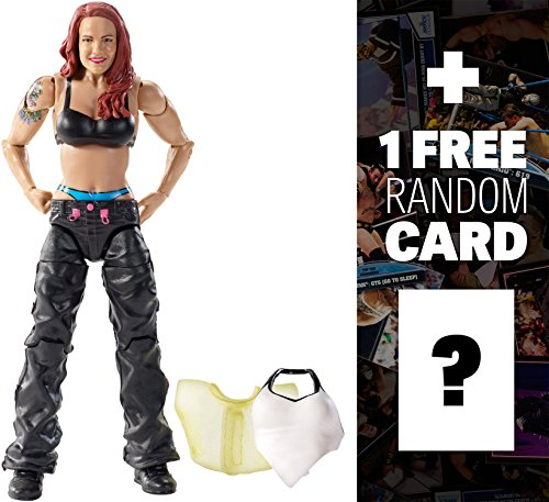 Lita w/ 2 Interchangeable Tops: WWE Elite Collection Action Figure + 1 FREE Official WWE Trading Card Bundle