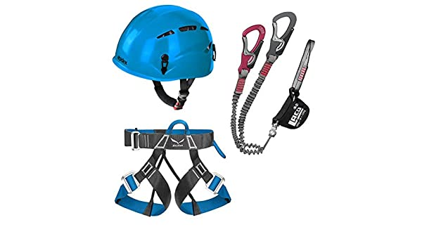 LACD Via Ferrata confort + Universal Alpidex casco argalí en azul ...