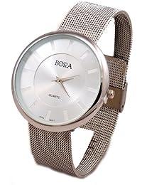 Women's Silver-Tone Mesh Bracelet Watch-Large Face