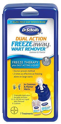 - Dr. Scholl's FreezeAway Wart Remover Dual Action, 7 Applications // Freeze Therapy + Powerful Fast Acting Liquid to Remove Warts