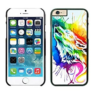 BINGO best quality Rainbow wolf iPhone 6 plus Case Black