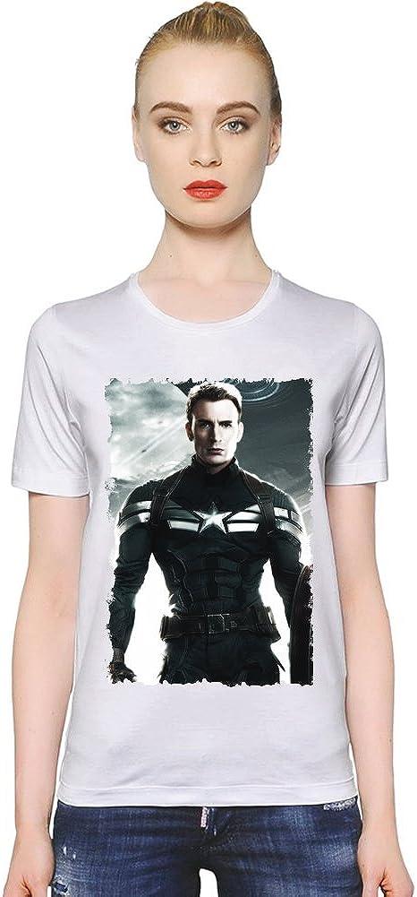 Chris Evans Captain America La camiseta de las mujeres XX ...