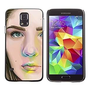 Snap-on Series Teléfono Carcasa Funda Case Caso para Samsung Galaxy S5 , ( Girls Portrait )