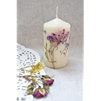 Real Dried Flower Candle Wedding party favor Rustic wedding Fall wedding centerpiece