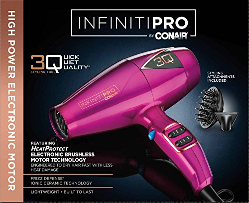 Infiniti Pro By Conair 3Q Styling Tool Hair Dryer Pink