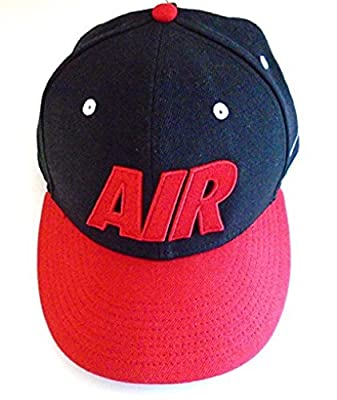 NIKE AIR Max Big Bold Logo True Hat Snap-Back Cap (Black/Red) Adult