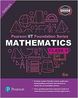 Book Pearson IIT Foundation Maths Class 9