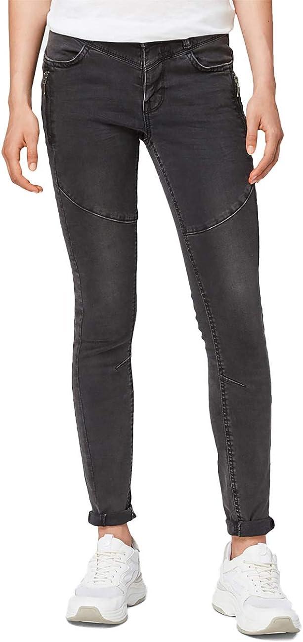 TOM TAILOR DENIM Damen Jeans Jona - Extra Skinny Fit - Schwarz - Black Denim Schwarz (Black Denim 10240)