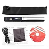 Amzdeal Portable Document Image Mobile Handheld Scanner Support up to 900 DPI Resolution, JPEG / PDF Format Selection with USB Cable and 2 AA Batteries - Black