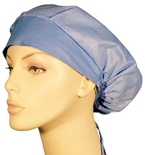 2 Ton Cap (Disposable Bouffant Surgical Scrub Cap - Two Tone Ceil Blue 25 pcs)