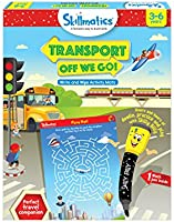 Skillmatics Educational Game: Transport Off We Go (3-6 Years) | Erasable and Reusable Activity Mats