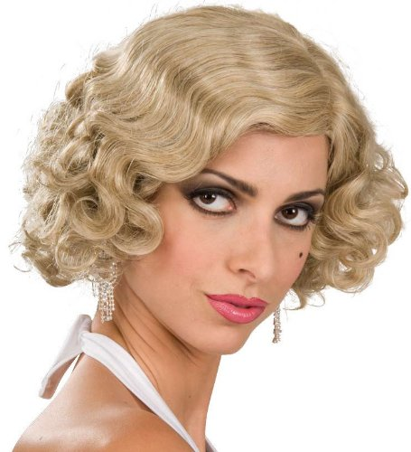 Blonde Flapper Girl Adult Wig]()