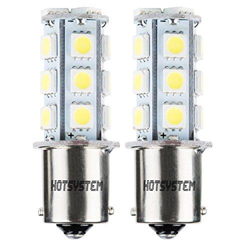 HOTSYSTEM 1156 7506 1003 1141 LED SMD 18 LED Bulbs Interior RV Camper White 2-pack