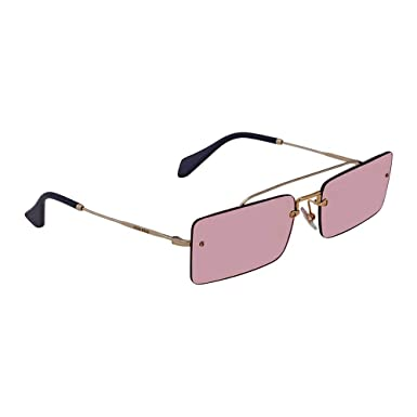 3eacc2ace15 Amazon.com  Miu Miu Women s 0MU 59TS Pale Gold Light Violet One Size ...