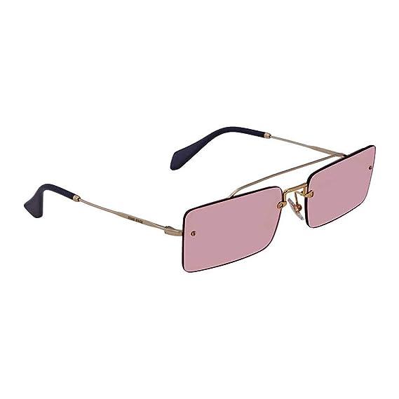 5c5dd480fd59 Miu Miu MU59TS ZVN9G1 Pale Gold MU59TS Cats Eyes Sunglasses Lens Category 1  Siz  Amazon.co.uk  Clothing