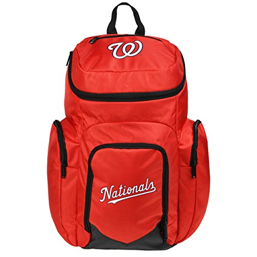 MLB Washington Nationals Traveler Backpack, One Size, Red by FOCO