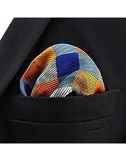 EODNSOFN Negocio Multicolor Pocket Mens Clásico Traje Regalo Pañuelo Cheques ACCEOSSORIOS (Color : C, Size : 32x32CM)