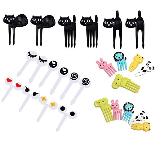Chris.W Pack of 26 Animal Food Picks/Fruit Forks Set, Bento Decoration Accessories Party Supplies