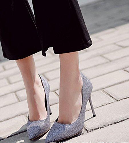 Escarpins De Gris Paillettes Mariage Femme Mode Aisun Chaussures Bal xqPwv76P1n