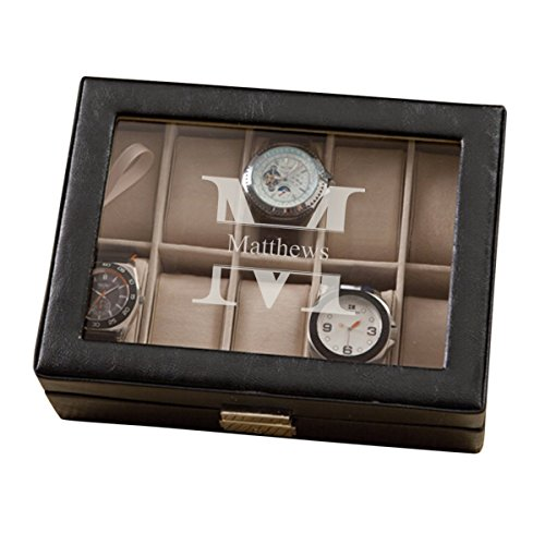 - Leather Watch Storage Box - Watch Display Case