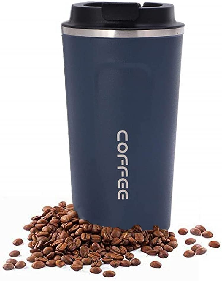 17 oz Stainless Steel Tumbler, Vacuum Insulated Coffee Travel Mugs with Leakproof Lid, Portable Business Home Coffee Cup, Double Wall Thermos Mug for Keep Hot/Ice Coffee, Beverage, Tea and Beer
