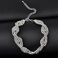 LOVE STORY Elegant Deluxe Austrian Crystal Bracelet Women Infinity Rhinestone Bangle Gift nogluck