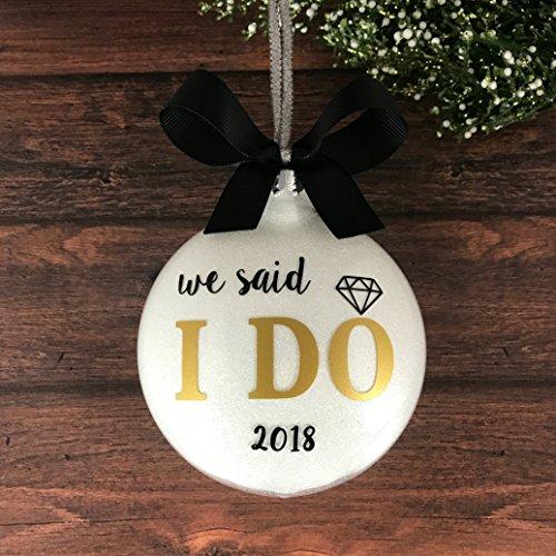 Wedding Ornament 2018, Wedding Christmas Ornaments 2018, Our First Christmas ()